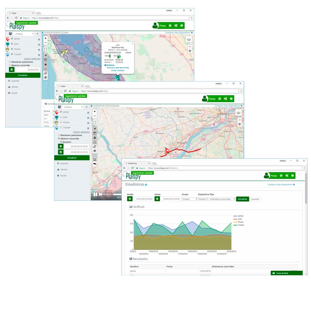 Plataforma Plaspy mapas